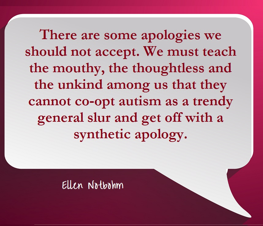 Apology accepted action